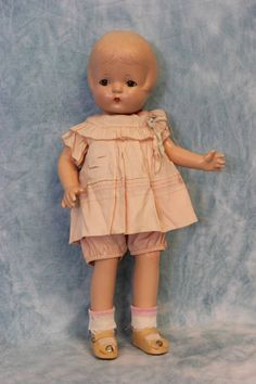 "Circa 1930's Sleep eyed 16"" Effanbee Patsy Joan Composition Doll Antique Orig. Clothes"