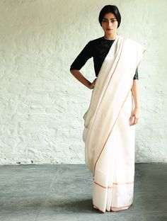 Buy White Sultanah Silk Saree By Raw Mango Sarees Woven Mashroo A Collection of Online at Jaypore.com