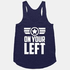 On Your Left Captain America tank top