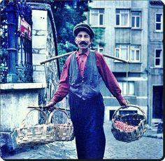 STREET SELLER - 'Kirazcı' (selling cherries). Istanbul, 1960s.