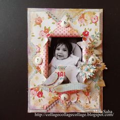 Victorian Frame by Mou Saha using Brenda Walton dies for Sizzix