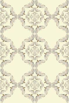 Timorous Beasties Wallcoverings - White Moth Circle  available at walnut wallpaper #wallpaper