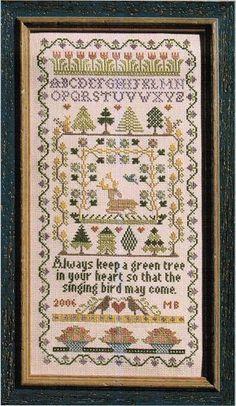 Green Tree - Cross Stitch Pattern