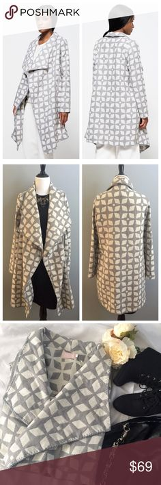 🎉SALE🎉Farrow cardigan Comfortable yet makes a statement! Has side pockets with asymmetric hem. Open cardigan by Farrow is new with tags and never worn. Measurements: underarm to underarm 23 inches; shoulder to hem 36 inches; arm length 25 inches. Farrow Sweaters Cardigans