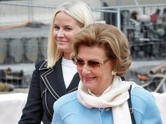 Queen Sonja and Princess Mette-Marit attended a ceremony at National Museum