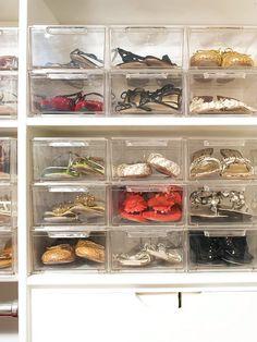 Shoe Boxes 靴 収納 Acrylic shoe box drawer Organisation Hacks, 31 Organization, Clothing Organization, Organizing Tips, Organizing Shoes, Refrigerator Organization, Clear Shoes, Ideas Para Organizar, Shoe Organizer