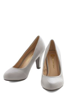 in a classic of its own heel in grey many shoes have eye catching