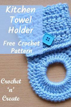 All Free Crochet, Crochet Ideas, Crochet Projects, Crochet Patterns, Knit Kitchen Towel Pattern, Crochet Kitchen Towels, Crochet Towel Holders, Crochet Hooks, Crotchet
