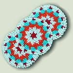 Imported Native American Indian Design Beaded Barrettes- Applique Beaded Barrettes- Loom Beaded Seed Bead Barrettes