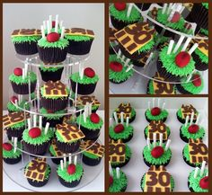 footy cupcakes
