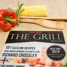 Glass chopping board with a superb The Grill magazine cover design Personalised name is inserted into the detail of the design to make your recipient the feature of this magazine! Perfect gift for Dads who love to BBQ!