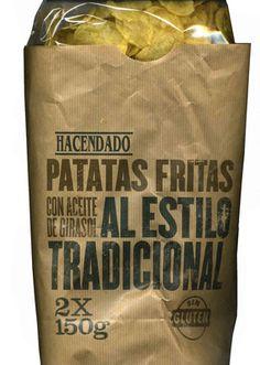 """Patatas fritas lisas """"Hacendado"""" Al estilo tradicional - Producto"""