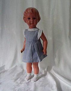 SK Schildkröt-Puppe  Karin ca. 43 cm aus den 50/60er Jahre