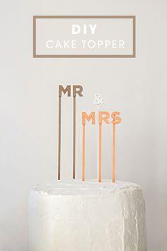 DIY wedding cake topper // Mr and Mrs