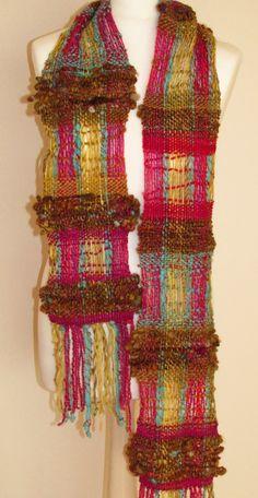 Handgewebter scarf from kind Yarn.Handgesponnene by PastoralWool