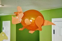 Love, love these dinosaur balloons! Dinasour Party, Dinasour Birthday, Dinosaur Birthday Party, Boy Birthday Parties, Birthday Ideas, 2nd Birthday, Deco Ballon, Dinosaur Balloons, Dinosaur Crafts