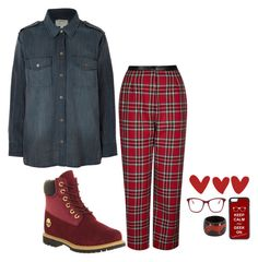 """""""everything is red pt.4"""" by bluveraa ❤ liked on Polyvore featuring Current/Elliott, Topshop, Timberland, CellPowerCases and Paul Smith"""