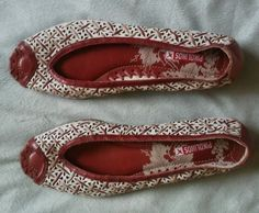 Pikolinos Womens White RED Beige Leather Open Toe Flats Sz 39 #Pikolinos #LoafersMoccasins