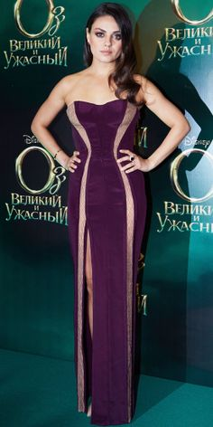 Our cover girl brought the drama to the Moscow premiere of Oz The Great and Powerful in a custom Atelier Versace gown, ruby Katerina Maxine ring and nude stilettos.