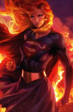 "DC Comics. Comic Book Artwork • Supergirl by Stanley ""Artgerm"" Lau. Follow us for more awesome comic art, or check out our online store www.7ate9comics.com Dc Comics Characters, Dc Comics Art, Comics Girls, Marvel Dc Comics, Death Metal, Mundo Superman, Supergirl Superman, Stanley Lau, Hq Dc"