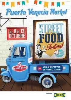 Street Food by The Van Sisters Food Truck Design, Food Design, Coffee Food Truck, Bbq Smoker Trailer, Mobile Restaurant, Bike Food, Food Truck Festival, Food Vans, Smoothie Bar
