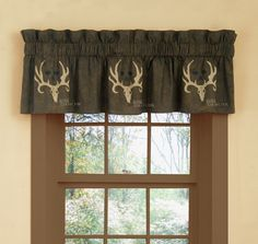 Bone Collector Window Valance for the avid hunter or outdoorsman