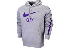 Nike Manchester City Core Hoodie - Dark Grey Heather...grab yours at SoccerPro right now.