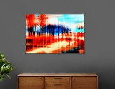 Discover «Abstract landscape», Limited Edition Aluminum Print by Nannie van der Wal - From 59€ - Curioos
