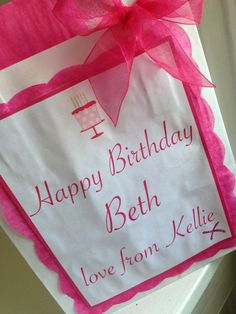 Party Favour Bags Personalised