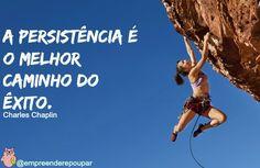 Para alcançar nossos objetivos temos que ser persistentes, pois obstáculos sempre aparecerão.
