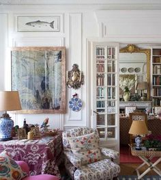 Interior french doors add a beautiful style and elegance to any room in your home. Interior Exterior, Home Interior, Interior Decorating, Interior Design, Interior Doors, Decorating Ideas, Decor Ideas, My Living Room, Living Spaces