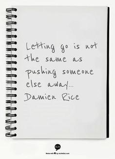Letting go   Damien Rice