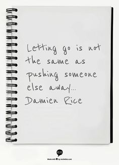 Letting go   Damien Rice