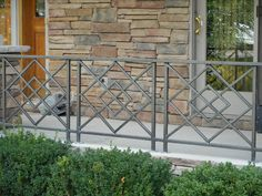 Iron Railings - Artistic Ornamental Iron of Minneapolis, MN Veranda Railing, Porch Railing Designs, Steel Railing Design, Modern Stair Railing, Balcony Railing Design, Balcony Grill Design, Window Grill Design, House Fence Design, Gate Design
