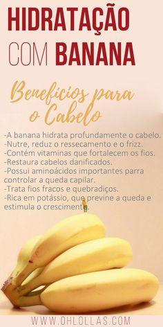 A hidratação com banana é ótima para cabelos finos, frágeis, quebradiços, com frizz, secos ou ressecados e inclusive para os fios quimicamente tratados.