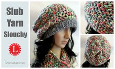 LOOM KNIT HAT Video - The Slub Yarn Slouchy