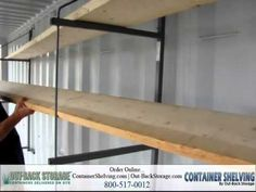 How To Install Shelves In A Shipping Container - YouTube