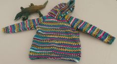 """SALE - Childs Hoodie, warm, bright, handmade, Age 2 to 3, 24"""" Chest actual by MakerMouse on Etsy"""