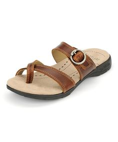 Take a look at this Tan Stray Sandal by Eastland on #zulily today!