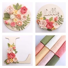 I have received many messages regarding the name plaques and letters and where to buy them. supplies lots of I have received many messages regarding the name plaques and letters and where to buy them. supplies lots of Paper Flowers Diy, Handmade Flowers, Felt Flowers, Flower Crafts, Fabric Flowers, Felt Flower Diy, Felt Crafts Diy, Felt Diy, Fabric Crafts
