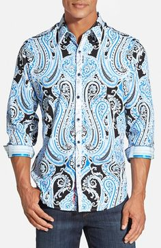 Robert Graham 'Fiordland' Classic Fit Paisley Sport Shirt available at #Nordstrom