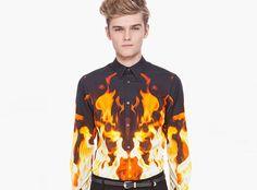 Alexander McQueen Fire Shirt