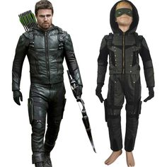 Arrow Season 6 Oliver Queen cosplay halloween costume full set superhero outfit toys xmas birthday gift for children boys comic-con anime