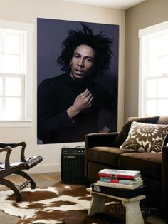 Bob Marley Portrait Music Mural Poster Print Part 51