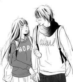 Kimi ni Todoke, Kuronuma Sawako y Kazehaya Shōta Manga Kiss, Manga Anime, Manga Kawaii, Comic Manga, Kimi Ni Todoke, Manga Love, Anime Love, Manga Drawing, Manga Art