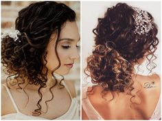What's the Difference Between a Bun and a Chignon? - How to Do a Chignon Bun – Easy Chignon Hair Tutorial - The Trending Hairstyle Curly Bridal Hair, Long Curly Hair, Wedding Hairstyles For Curly Hair, Curly Wedding Updo, Black Hairstyles, Naturally Curly Hairstyles, Bridesmaid Hair Curly, Curly Bun Hairstyles, Dreadlock Hairstyles