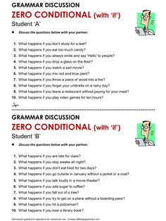 English Grammar Discussion Zero Conditional (with 'if'). http://www.allthingsgrammar.com/zero-conditional.html