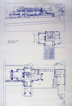 Frank Lloyd Wright di casa poco Blueprint di BlueprintPlace