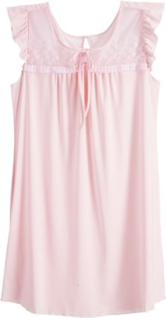 Room Wear by Wacoal Mood Cotton Nighties, Cotton Sleepwear, Dress Neck Designs, Blouse Designs, Night Gown Dress, Modest Dresses Casual, Night Dress For Women, Frocks For Girls, Nightgowns For Women