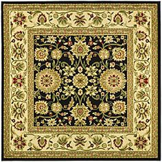 Shop for Safavieh Lyndhurst Collection Majestic Black/ Ivory Rug (6' Square)…